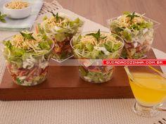 Receita de Salada no copinho