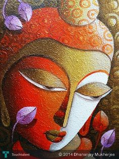 BUDDHA in Painting by Dhananjay Mukherjee
