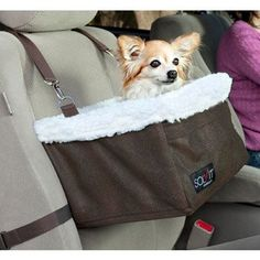 Solvit Tagalong Standard Booster Pet Car Seat Large 16' L X 14' W X 8' H Brown For Pets up to 18 lbs. -- Find out more about the great product at the image link. (This is an affiliate link and I receive a commission for the sales)