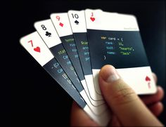 Code:Deck #PlayingCards For Developers  Flaunting a stylish design! #geeks