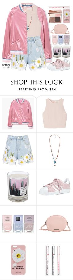 """Summer Bombers"" by doga1 ❤ liked on Polyvore featuring MANGO, SemSem, WithChic, Maison La Bougie, adidas, Nails Inc., Iphoria, Bobbi Brown Cosmetics and bomberjackets"