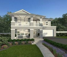 Stylish architectural design and perfectly balanced zones combine to create a stylish backdrop to contemporary family living in this stunning home 3d House Plans, Family House Plans, Bedroom House Plans, Modern House Plans, 2 Storey House Design, Two Storey House, Mcdonald Jones Homes, Hamptons Style Homes, Facade House