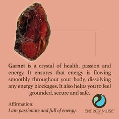Garnet is a crystal of health, passion and energy. It ensure that energy is flowing smoothly throughout your body, to help you feel more grounded, secure and safe. Get yourself a jewelry with a magical gemstone properties at SuddenlySeen on Etsy. To know more information visit us at http://etsy.me/1sXi8Nt #SuddenlySeen #vintage #jewelry #garnet #crystals #healing