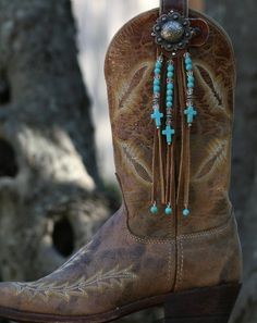 Candy Toppers Turquoise Crosses and Fringe Boot Candy Toppers Turquoise Crosses and Fringe Boho Boots, Fringe Boots, Cowgirl Boots, Western Boots, Leather Fringe, Boot Jewelry, Western Jewelry, Jewelry Necklaces, Cowboy Boot Crafts