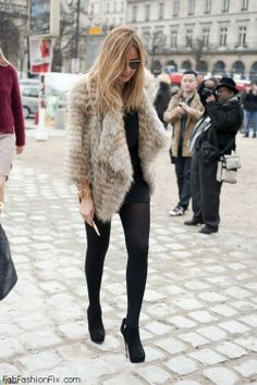 Fabulous fur coat street style inspiration.