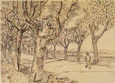 Van Gogh Drawings, Ink Pen Drawings, Easy Drawings, Vincent Van Gogh, Desenhos Van Gogh, Van Gogh Art, Rose Art, Artist Gallery, Disney Drawings