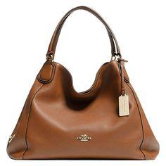 3c29fe9751da Coach Edie Leather Shoulder Bag