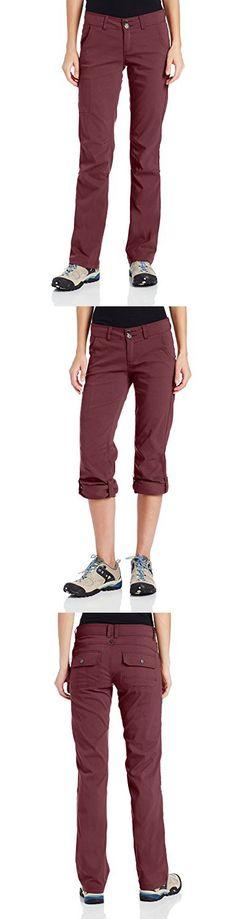 PrAna Women's Halle Tall Inseam Pants, Size 2, Burgundy