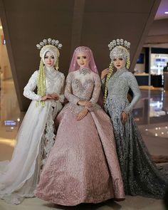 Bridal Hijab, Hijab Bride, Wedding Hijab, Muslimah Wedding Dress, Hijab Style Dress, Traditional Wedding, Traditional Dresses, Wedding Beauty, Dream Wedding