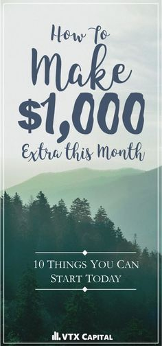 Make Money At Home: 10 Ways To Make An Extra $1,000 Each Month