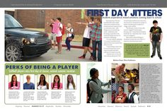 story ideas: could do a spread on the first day for freshman but also other students. possibly seniors and how different it feels.