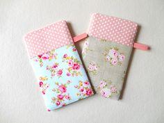 Glasses Phone Case Floral Pink Polka Dots by HandmadeByEvaRose