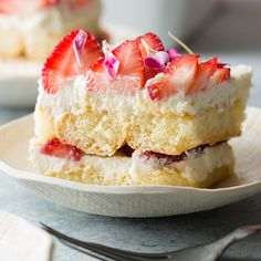 """Strawberry Tiramisu  About a month ago my sister emailed me a link to a strawberry cake recipe and the email reading only, """"mmmm, I think I would like this"""". My sister is currently pregnant with her f"""