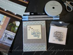 Clearly Stamping - All CTMH with Huntington and Frosted using card sketch from Make It From Your Heart Volume 2