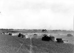 Canadian forces moving toward Falaise on 14 August 1944.