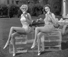 Marie Wilson & Ann Nagel #vintage #pinup #icecream