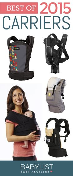 Need a some advice to help you pick the best baby carrier? Here are the 5 best carriers of 2015 - based on our own research + input from thousands of parents. Baby Registry List, Baby List, Baby Number 2, Best Baby Carrier, Baby Must Haves, Baby On The Way, Everything Baby, Baby Needs, First Baby