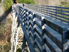 I always like riding my bike on this trestle with my arms outstretched like I'm flying.  Feels pretty close too, =).