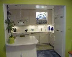 Cantik Ya Perpaduan Putih Dan Lime Green Membuat Dapur Minimalis Ini Jadi Terlihat Segar Small