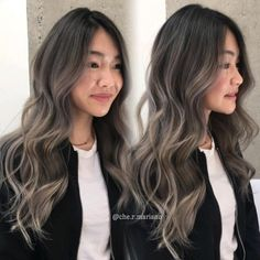 Hairstyles and Beauty: The Internet`s best hairstyles, fashion and makeup pics are here. Hair Color Asian, Hair Color And Cut, Korean Hair Color Ombre, Ash Blonde Hair Balayage, Asian Balayage, Ash Brown Balayage, Ashy Hair, Bayalage, Blond Beige