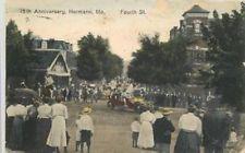 1919 HAND COLORED HERMANN MISSOURI 75th Anniversary Fourth Street 11844 postcard