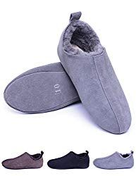 Best Seller Men's Sheepskin Slippers Soft Sole,Shearling Lined Leather House Slippers Men Women,Slip Indoor Shoes Warm Soft Winter online – Newtrendyfashion Mens Sheepskin Slippers, Leather Slippers, Baby Slippers, Mens Slippers, Bedroom Slippers, Cheap Mens Shoes, Discount Designer Shoes, Casual Oxford Shoes, Bowling Shoes