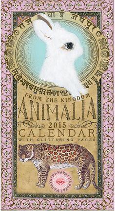 Animalia calendar 2015 by Anahata Katkin for PAPAYA!