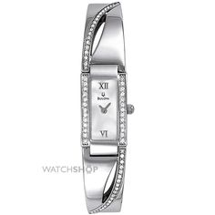 Ladies Bulova Crystal Watch 96T63