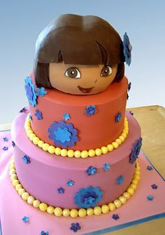 dora the explorer fondant template Google Search cakes