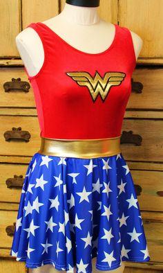 Wonder Woman youth and adult full costume circle skirt leotard womens Halloween costume super hero fantasy by suestevepat on Etsy https://www.etsy.com/listing/166056181/wonder-woman-youth-and-adult-full
