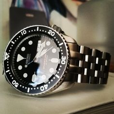 Seiko SKX 007 J1 with Strapcode Super Engineer II bracelet