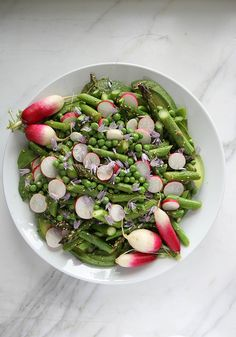Avocado, Asparagus, Pea and Radish Sesame Salad by Heather Christo