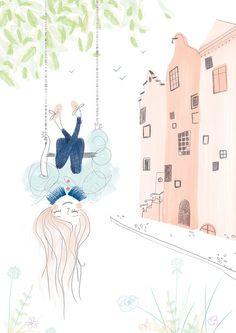 Illustration swingset chain Cracco