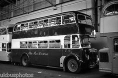 Derby City Transport Blue Bus Daimler Ascot Drive Depot Bus Photo in Collectables, Transportation, Bus/ Coach | eBay