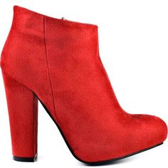 red leather boots - Google Search Red Ankle Boots, Red Leather Boots, Red Booties, Platform Ankle Boots, High Heel Boots, Ankle Booties, Red Platform, Suede Boots, Diba Boots
