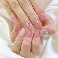 เพ้นท์เล็บสีชมพู โทนสีพาสเทล Nice Nails, Fun Nails, Pastel Nails, Beauty Nails, Nail Colors, Manicure, Nail Designs, Style, Fingernail Designs