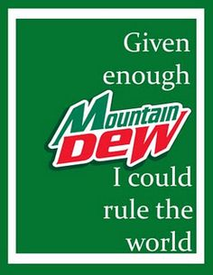 I wonder if I can get this made with Ski instead of Mountain Dew?