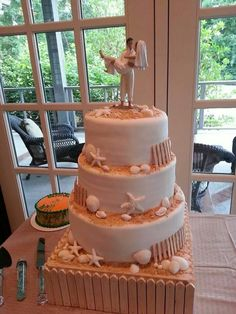 Awesome 3-tier Beach cake