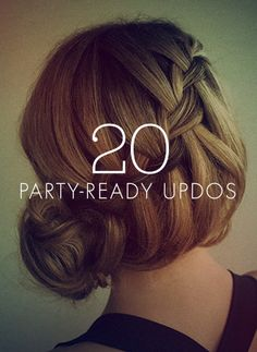 Love these holiday hair, party-ready updos.