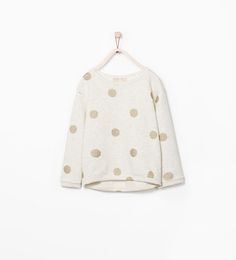SHINY DOTS SWEATSHIRT-Sweaters & Cardigans-Girl-COLLECTION SS15 | ZARA United States