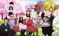 Kaoru, Hikaru, Honey, Mori, Tamaki and Kyoya, Ouran High School Host Club- cue the fangirl squeal