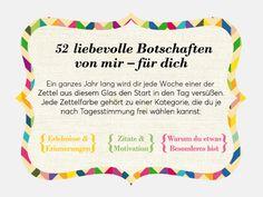 Geschenkidee: DIY Zetteldose mit 52 liebevollen Botschaften