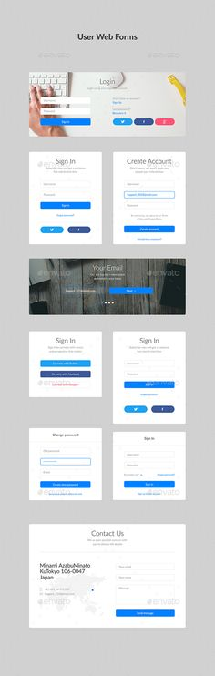 Simple Steps Process Panels Flats, Simple and eCommerce - account form template