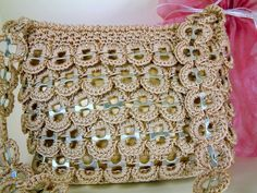 Crochet Tab Top Purse. $65.00, via Etsy.