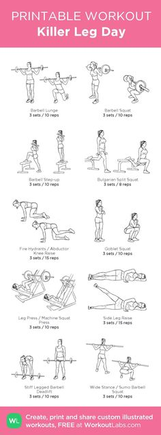 Killer Leg Workout | Posted by: AdvancedWeightLossTips.com