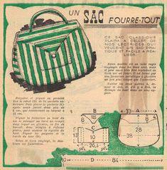 Vintage Diy, Vintage Crafts, Vintage Purses, Vintage Bags, Vintage Knitting, Vintage Sewing Patterns, Journal Vintage, Sewing Magazines, Diy Accessoires