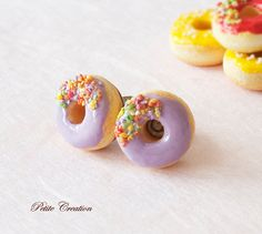 Donut Collection  Purple Donut with Sprinkles by PetiteCreation, $15.00