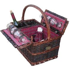 Chateau Medley Picnic Basket for 4 by Sutherland Baskets. $99.99