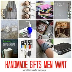 Handmade Gifts Men Want - 12 gift ideas for the men in your life!