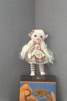 Handmade elf doll.  Elf toy, elf doll, textile doll, beautiful gift by WonderfulWorldOfArt, $20.00 USD